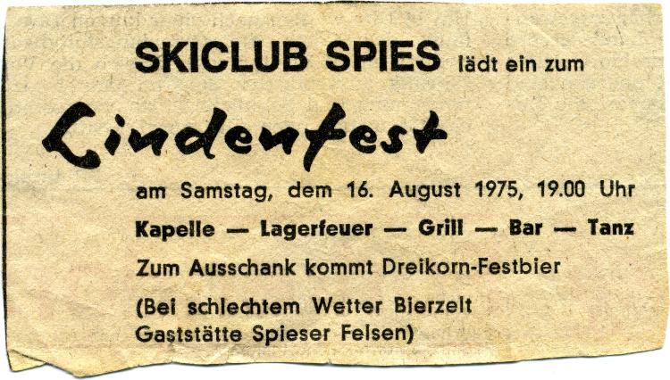 Flyer des ersten Lindenfests